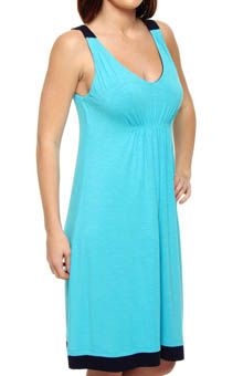 Blue Horizons Chemise With Shelf Bra