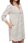 Every Day 3/4 Sleeve Grey Animal Sleepshirt