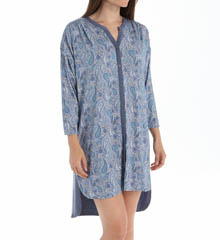 Anne Klein Chambray 3/4 Sleeve Rayon Sleepshirt 8010404