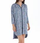 Chambray 3/4 Sleeve Rayon Sleepshirt Image