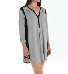 Anne Klein Ritzy 3/4 Sleeve Roll Up Sleepshirt 8010415