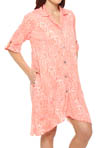 Anne Klein Crazy for Crinkle 3/4 Sleeve Sleepshirt 8110296