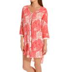 Coral 3/4 Sleeve Sleepshirt Image
