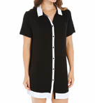 Anne Klein Black & White Short Sleeve Sleepshirt 8210382
