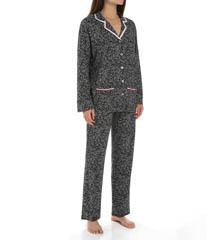 Anne Klein Snow Leopard Long Sleeve PJ Set 8310417