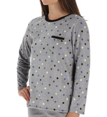 Anne Klein Bundle Up Long Sleeve Micro Fleece Top 8310420