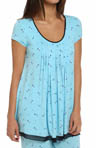 Anne Klein Blues Short Sleeve Top 8410384