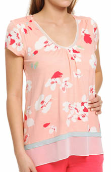 Anne Klein Coral Short Sleeve Top 8410385