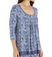 Anne Klein Chambray 3/4 Sleeve Top with Soft Bra 8410404