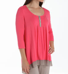 Anne Klein Cheery 3/4 Henley Top 8410406
