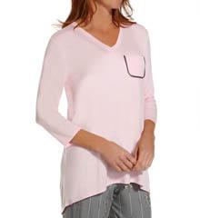 Anne Klein Novelty 3/4 Sleeve Top 8410411