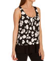 Black & White Sleeveless Top w/ Soft Bra Image