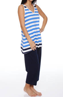 Lucky Stripe Sleeveless Cropped PJ