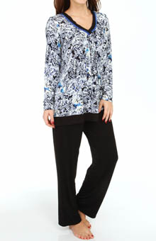 Anne Klein Wintery Nights Longsleeve Long PJ Set 8810367