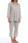 Anne Klein Merry & Bright 3/4 Sleeve Cropped PJ Set 8810371