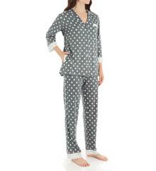 Anne Klein Novelty 3/4 Sleeve Long PJ Set 8910411