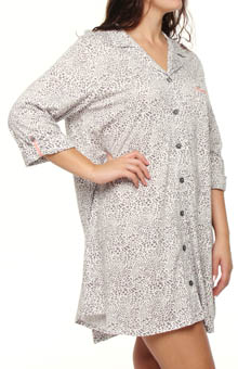 Anne Klein Plus Size Every Day Grey Animal Sleepshirt