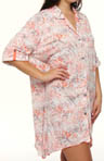 Anne Klein Plus Size Crazy for Crinkle 3/4 Sleeve Sleepshirt 9110296
