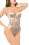 Annette Power Curves Jacquard Strapless Bodysuit w/Thong PC-5004