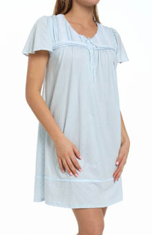 Aria The Ocean Breeze Short Sleeve Short Nightgown 8014837