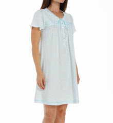 Aria Aqua Ditsy Cap Sleeve Short Nightgown 8014859