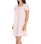 Printed Soft Jersey Cap Sleeve Short Nightgown Image