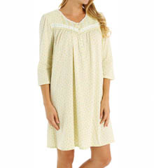 Aria Printed Soft Jersey 3/4 Sleeve Short Nightgown 8014874