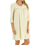 Printed Soft Jersey 3/4 Sleeve Short Nightgown Image