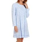 Printed Brushed Interlock Long Sleeve Short Gown Image