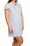 Aria Blue Nile Short Sleeve Short Nightgown 801978