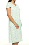 Aria Blue Nile Short Sleeve Long Nightgown 821978