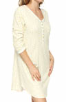 Aria Falling Leaves 3/4 Sleeve Short Nightshirt 8314809