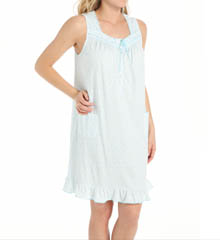 Aria Aqua Ditsy Sleeveless Short Nightgown 8314859