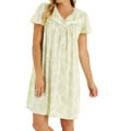 Printed Soft Jersey Short Cap Sleeve Nightgown Image