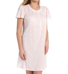 Aria Romantic Florals Short Sleeve Short Nightgown 8614839
