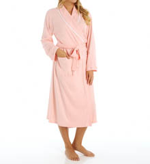 Aria Solid Brushed Interlock Ballet Wrap Robe 8614874