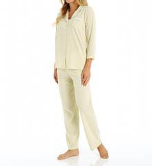Aria Printed Soft Jersey 3/4 Sleeve PJ Set 8914874