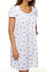 Aria Countryside Blues Swiss Dot Jersey Short Nightgown A801994