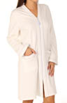 French Linens Diamond Double Knit Zip Front Robe