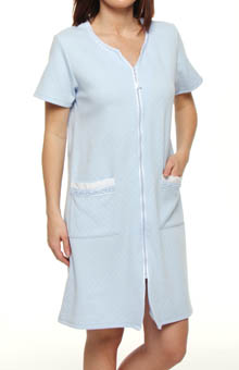 Countryside Blues Short Zip Robe