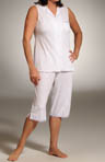 Crystal Dance Soft Jersey Sleeveless Clamdigger PJ