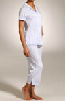 Blue Skies Short Sleeve Capri PJ Set