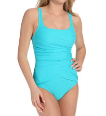 Assets by Sara Blakely Wrap Around One Piece Swimsuit 1755