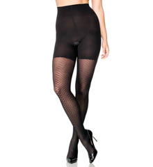 Assets by Sara Blakely Patterned Shaping Tights Diamond Net 2404