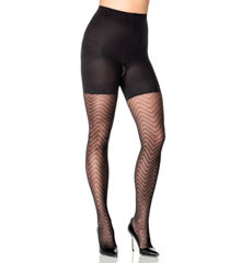 Assets by Sara Blakely Patterned Shaping Tights Diagonal Wave 2405