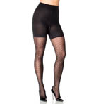 Patterned Shaping Tights Diagonal Wave Image
