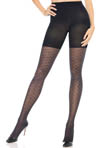 Textured Shaping Preppy Diamond Tights