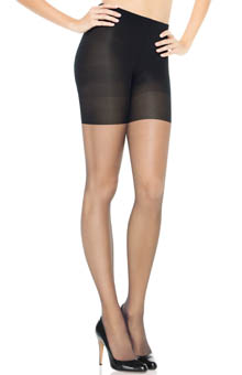 Assets Red Hot by Spanx Textured Scallop Backseam Shaping Pantyhose