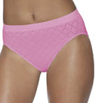 Microfiber Pattern Hi Cut Panty