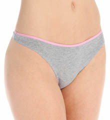 Barely There Cotton Stretch Tailored Thong 21B5